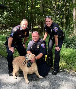 police officers with dog